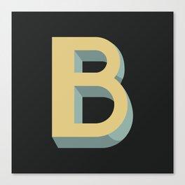 Type Seeker - B Canvas Print