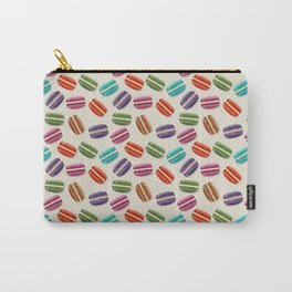 Cute Macarons Pattern with Polka Dots Carry-All Pouch