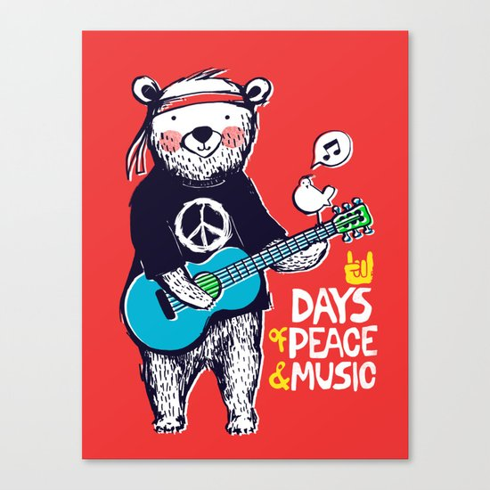 Days Of Peace & Music Canvas Print