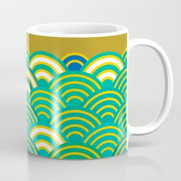 Seigaiha or seigainami literally means wave of the sea. Merry Christmas card Coffee Mug