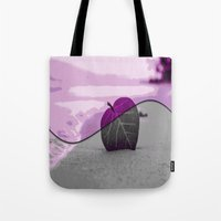 leaf Tote Bags featuring Leaf by Aloke Design