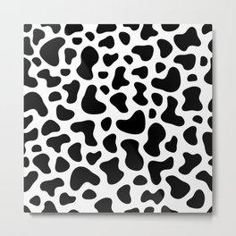 Cow print pattern design animal farm farmer Metal Print