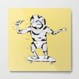 Skate Monkey Metal Print