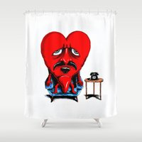 zappa Shower Curtains featuring Lonely Heart by holaf