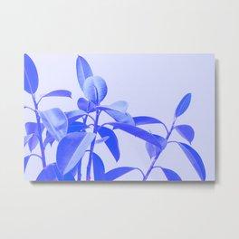 Rubber Plant Riso Metal Print