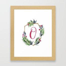 Jungle Gold Monogram Crest O Framed Art Print