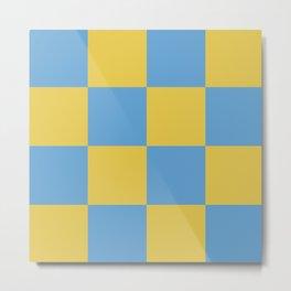 Blue & Yellow Metal Print