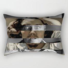 "Gustave Courbet ""The Desperate Man"" Self Portrait & James Stewart in Vertigo Rectangular Pillow"
