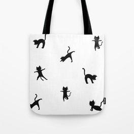 Yoga cats - black cats doing yoga Tote Bag