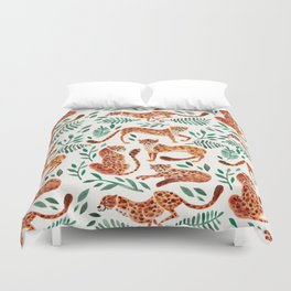Cheetah Collection – Orange & Green Palette Duvet Cover