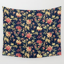Shabby Floral Print Wall Tapestry