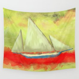 Abstract-ship Wall Tapestry