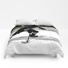 On the Move - Hockey Player Comforters