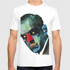 horror SMALL White Mens Fitted Tee