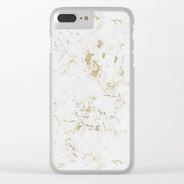 Marble Gold Mine Clear iPhone Case