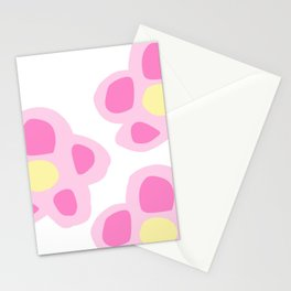 Pink Floral Print Stationery Cards