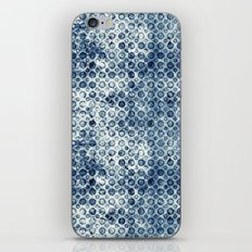 Grungy Teal Circles iPhone Skin