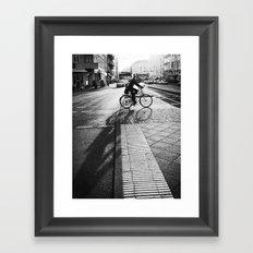 bike/shadow II Framed Art Print
