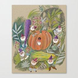 Heavy Lifting Garden Gnomes Canvas Print