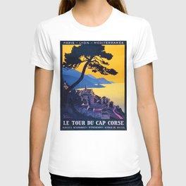 Le Tour Du Cap Corse, French Travel Poster T-shirt