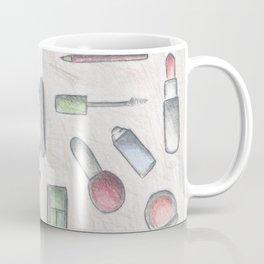 MAKE-UP - pencil and coloured pencil illustration Coffee Mug