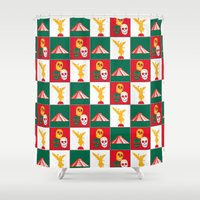 mexico Shower Curtains featuring Mexico City by Arts and Herbs