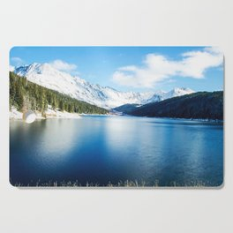 Clinton Gulch // Day Light Mountain Lake Forest Snow Peak Landscape Photography Hiking Decor Cutting Board