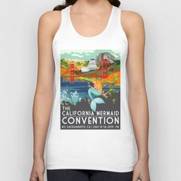 Simple Logo ·•· California Mermaid Convention Unisex Tank Top