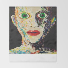 Green Eyes Throw Blanket
