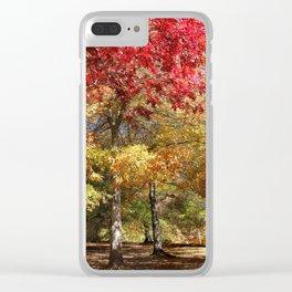 Autumn Sunshine Landscape Clear iPhone Case