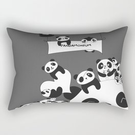 Panda party Rectangular Pillow