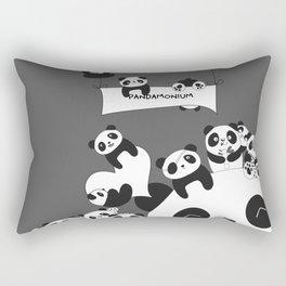 Panda party Rectangular Pillow