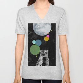 Curious owl Unisex V-Neck