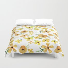 yellow flower party Duvet Cover