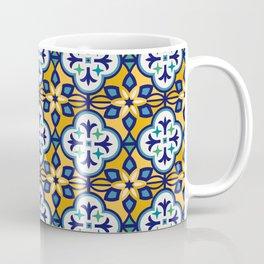 Yellow and Blue Moroccan Tile Coffee Mug