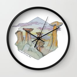 The Badlands Wall Clock