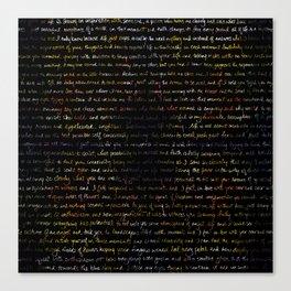 Marigold + Journal Writing Overlay Canvas Print