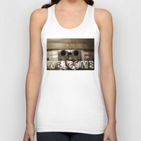 welcome Tank Tops featuring Welcome by digital2real