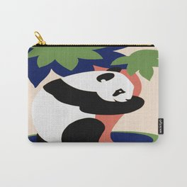 Vintage Panda Tree Hugger Carry-All Pouch