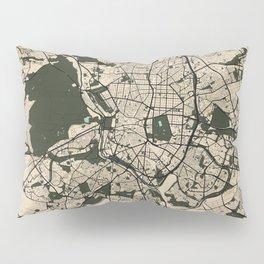 Madrid City Map of Spain - Vintage Pillow Sham