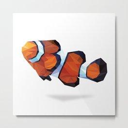 Geometric Abstract Clown Fish  Metal Print