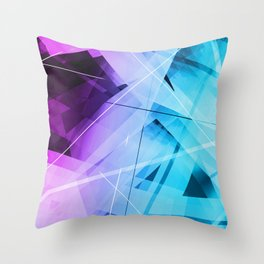 Reflections - Geometric Abstract Art Throw Pillow