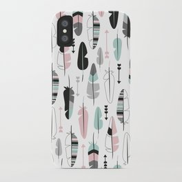 Arrows and feathers summer pattern iPhone Case