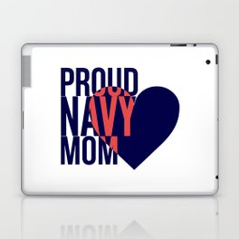 Proud Navy Mom Laptop & iPad Skin