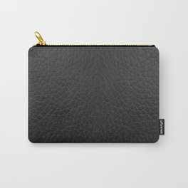 Black faux leather texture Carry-All Pouch