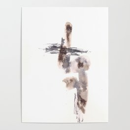 The Warrior for Justice - 151124  Abstract Watercolour Poster