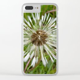 Dandelion In The Rain Clear iPhone Case