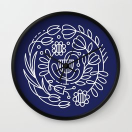 Flower medallion Wall Clock