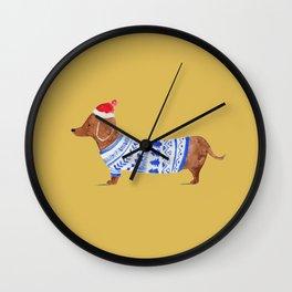 Dashing Dachshund Wall Clock