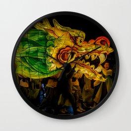 Lantern Parade Dragon Wall Clock